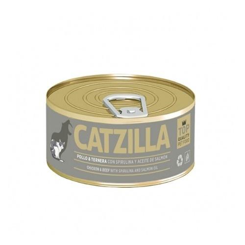 Lata Catzilla Pollo y ternera para gatos