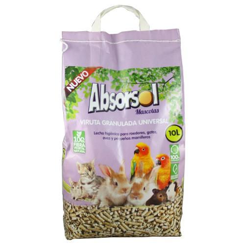 Lecho de madera para mascotas Absorsol en pellets