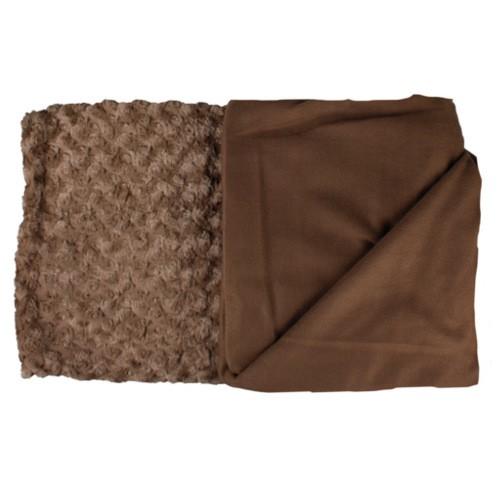 Manta suave con forro marrón Cuddly