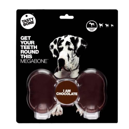 Mordedor para perros TastyBone Nylon hueso para perros gigantes sabor Chocolate