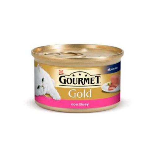 Gourmet mousse de Buey para gatos