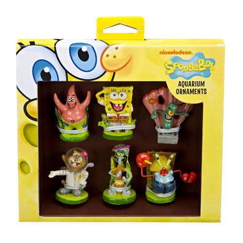 Bob esponja pack de 6 figuras decoración de acuarios