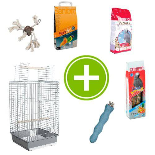 Pack de inicio para loros tiendanimal for Estanque prefabricado rectangular