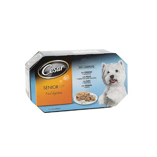 Comida húmeda para perros senior César Multipack
