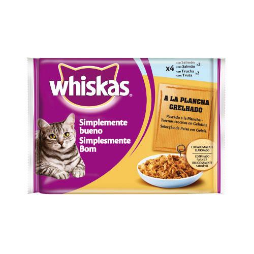 Alimento húmedo para gatos Whiskas Simplemente Bueno de pescado
