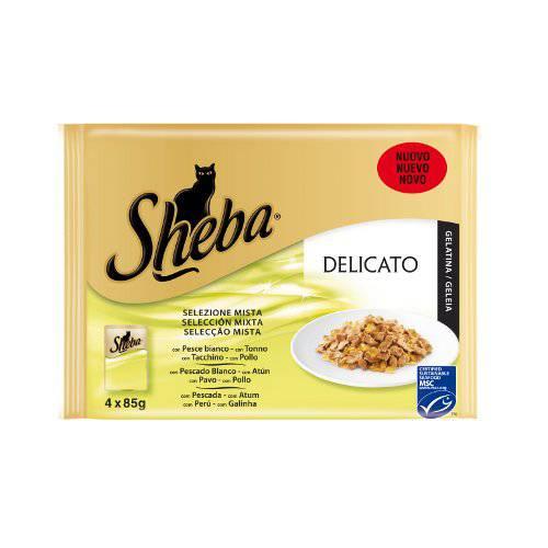 Alimento húmedo para gatos Sheba Mix pescado y carnes