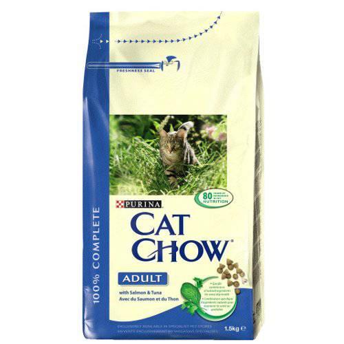 Pienso para gatos Cat Chow con salmón y atún