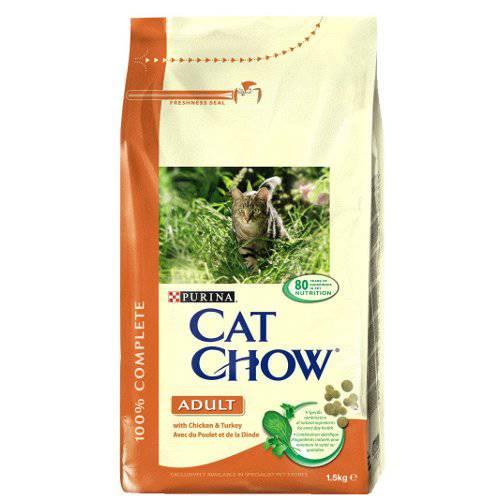 Pienso para gatos Cat Chow con pollo y pavo
