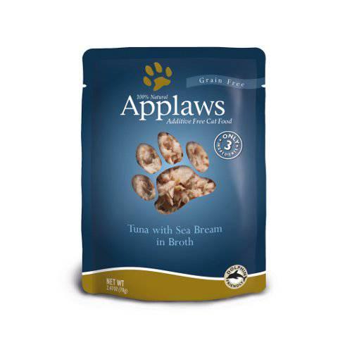 Comida húmeda para gatos Applaws Pouch con sabor a atún y besugo