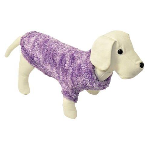 Jersey de punto para perros  peluche color lila