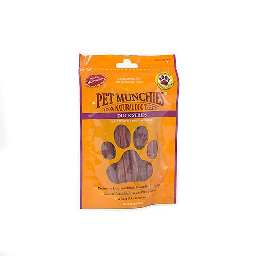 Snacks para perros Pet Munchies Duck Strips tiritas de pechuga de pato