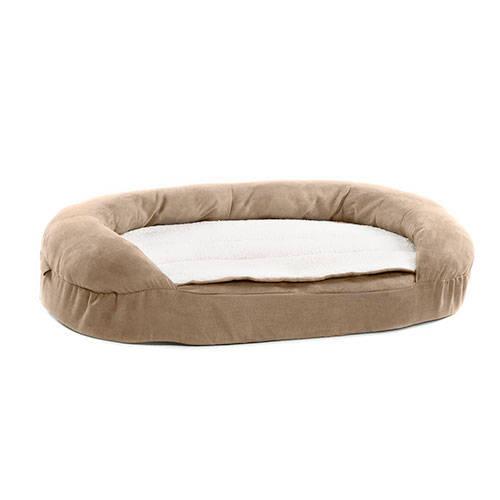 Cama ortopédica para perros TK-Pet ovalada color marrón