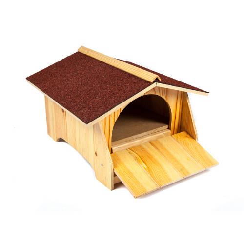 Caseta de madera refugio para tortugas