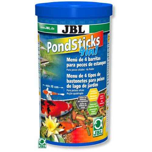 Jbl pond sticks 4 en 1 alimento completo para peces de for Alimento peces estanque