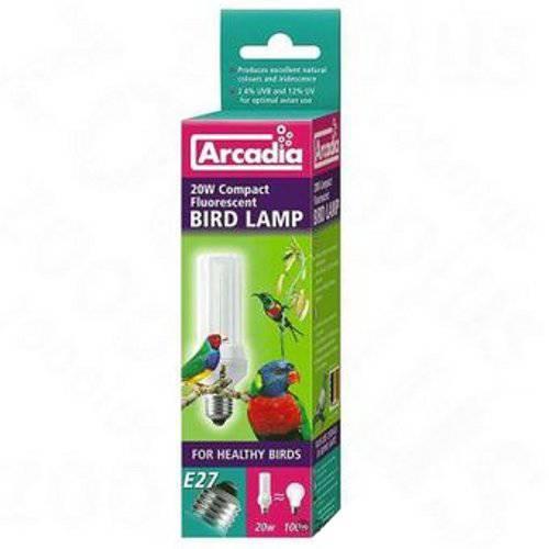 Lámpara compacta fluorescente luz artificial especial pájaros