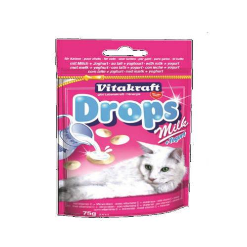 Vitakraft Drops para gatos con leche 75g