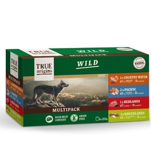 Multipack comida húmeda True Origins Wild 6 uds. 200 gr.