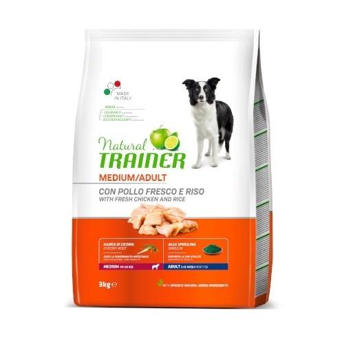 Natural Trainer Adult Medium con pollo y arroz