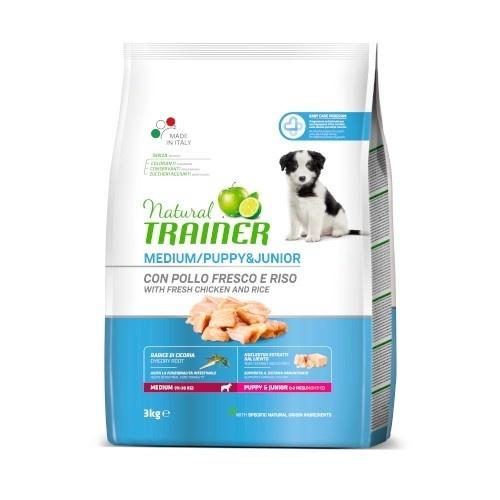 Natural Trainer Puppy Medium con pollo y arroz