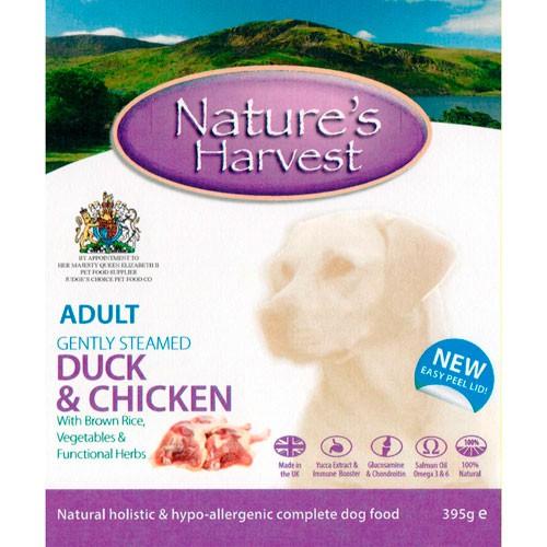 Nature's Harvest Adult Comida húmeda para perros Pato