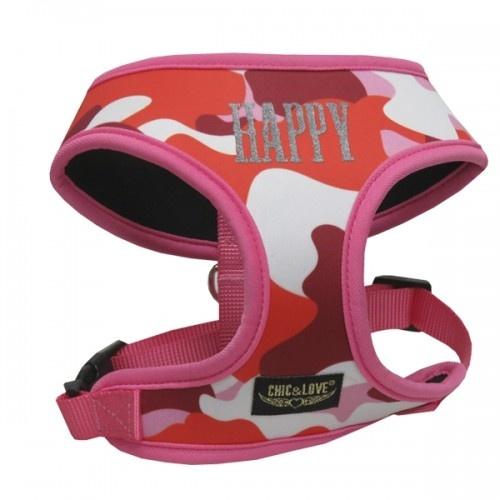 Arnés neopreno Camuflaje para perros color Rosa