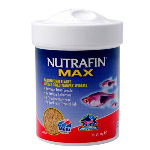 Nutrafin Max alimento para peces Gusanos y Escamas
