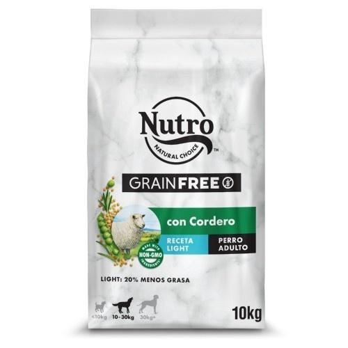 Nutro Grain Free Light pienso para perros con cordero
