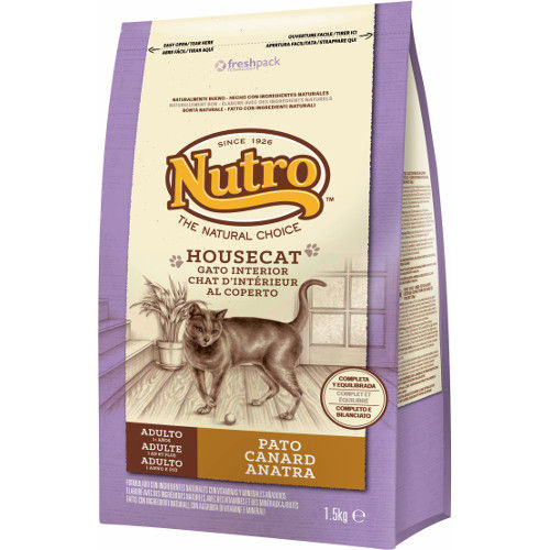 Nutro Natural Choice Housecat pienso con pato para gatos de interior