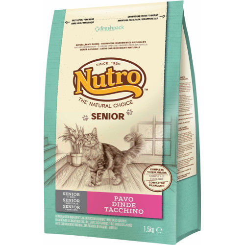 Nutro Natural Choice Senior pienso para gatos con pavo