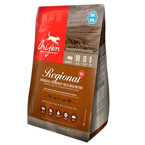 Orijen Freeze-Dried Regional Red comida deshidratada para perros
