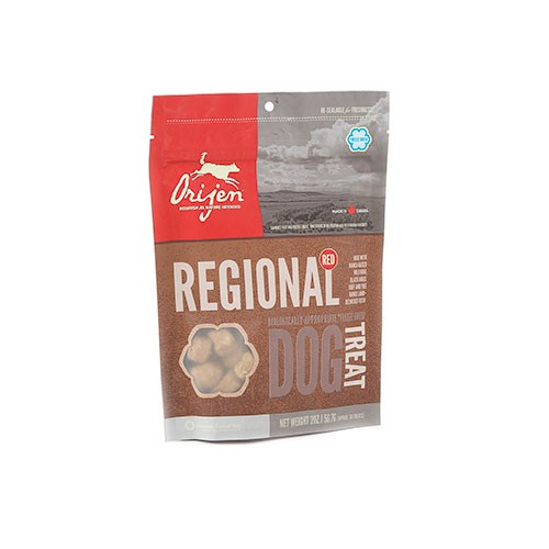 Orijen Treats Regional Red Snack natural carne roja para perros