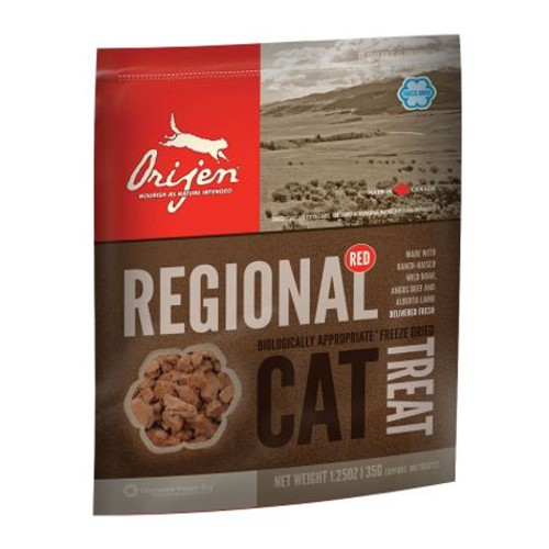 Orijen Treat Regional snack natural de carne roja para gatos