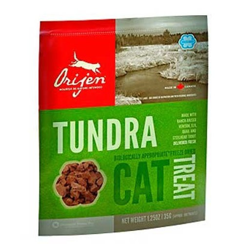 Orijen Treat Tundra snack natural de carne de caza para gatos