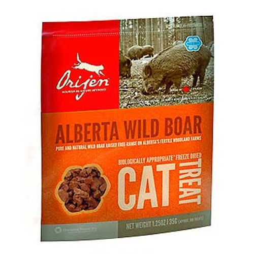 Orijen Treat Wild Boar snack natural de jabalí para gatos
