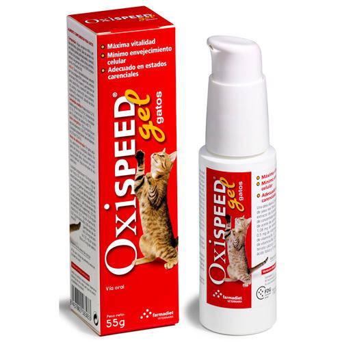 Oxispeed Gel Aumenta vitalidad y retrasa el envejecimiento gatos