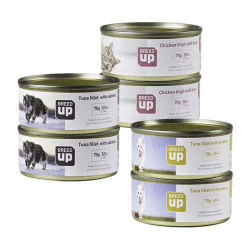 Pack alimento húmedo para gatos Breed Up Adult Degustación