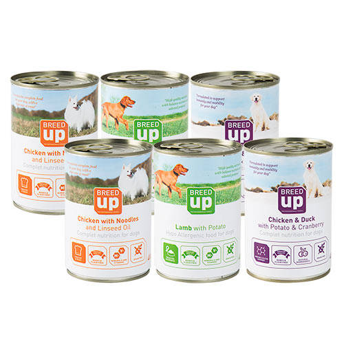 Pack alimento húmedo para perros Breed Up Adult Degustación