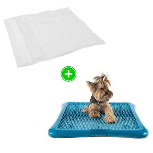 Pack cachorro: empapadores con aroma a limón y bandeja sanitaria para perros TK-Pet