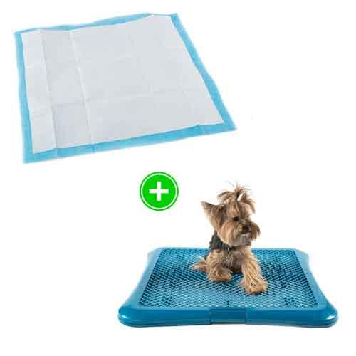 Pack cachorro: empapadores elimina olores y bandeja sanitaria para perros TK-Pet