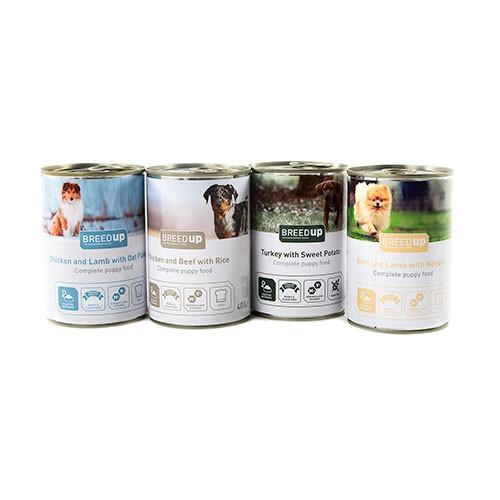 Pack degustación Breed Up de comida húmeda para cachorros