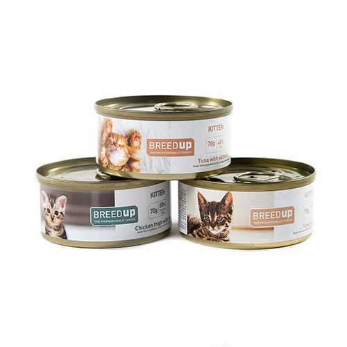 Pack tasting Breed Up wet food for kittens