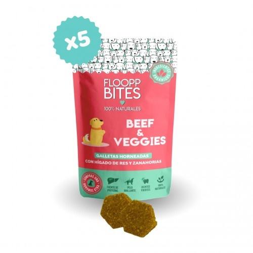 Pack de galletas naturales FlooppBITES Beef & Veggies para perros