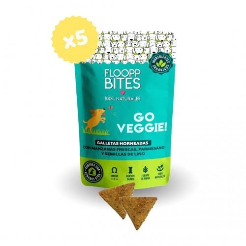 Pack de galletas naturales FlooppBITES Go Veggie! para perros
