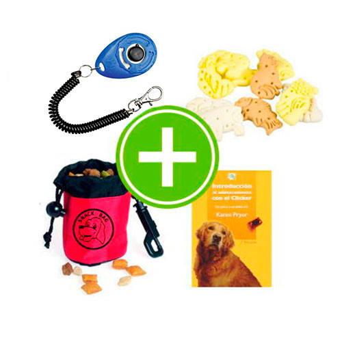 Pack iniciación al adiestramiento con clicker para perros