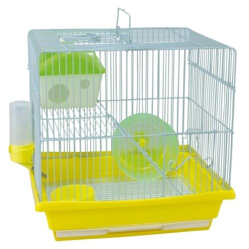 Pack 4 jaulas Nueva Ibiza para roedores color Amarillo