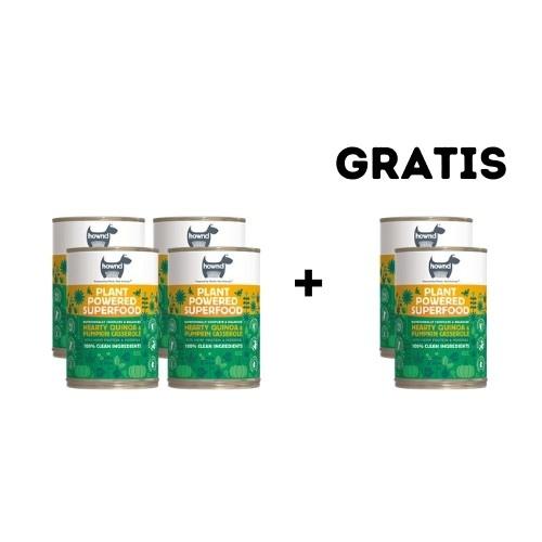 Pack 4 + 2 latas de regalo de superalimento húmedo vegano sabor Calabaza