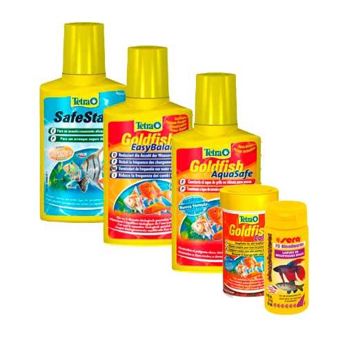 Pack mantenimiento mensual peces de agua fria tiendanimal for Alimentacion para peces de agua fria