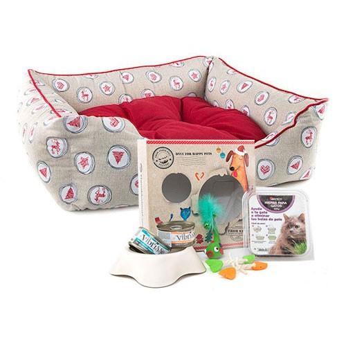 Pack Navidad Baltasar: caja de regalos y cama para gatos