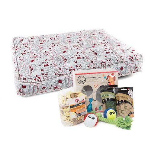 Pack Navidad Orión: caja de regalos y colchoneta para perros