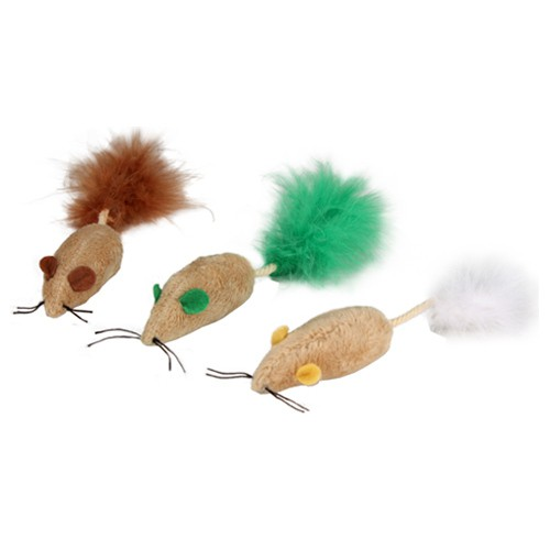 Pack de 3 ratones para gatos Blind Mice